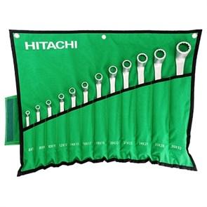 HITACHI HTC-774018, набор комбинированных гаечных ключей в скрутке 14 предметов