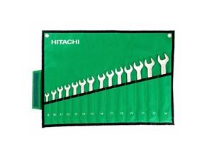 HITACHI HTC-774019, набор раздвоенных кольцевых гаечных ключей 12 предметов