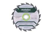 Пильное полотно «cordlesscutwood— classic», 165x20 Z18 WZ20°, Metabo, 628272000
