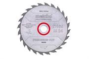 Пильное полотно «precisioncutwood— professional», 165x20 Z24 WZ20°, Metabo, 628290000