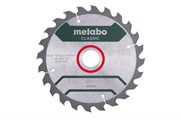 Пильное полотно «precision cut wood — classic», 190x30 Z24 WZ 15°, Metabo, 628675000