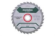 Пильное полотно «powercutwood— classic», 216x30, Z30 WZ 22°, Metabo, 628062000