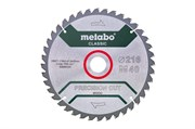 Пильное полотно «precision cut wood — classic», 254x30 Z48 WZ 5°neg /B, Metabo, 628656000