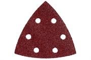 5 шлифовальных листов на липучке 93x93 мм, P 80,H+M,DS, Metabo, 624942000