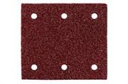 10 шлифовальных листов на липучке 115x103 мм, P 80, H+M, SR, Metabo, 625621000