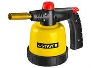 STAYER MaxTerm ML200 паяльная лампа газовая с пъезоподжигом, на прокалываемый баллон 90х95 мм 190 гр., 1850°С