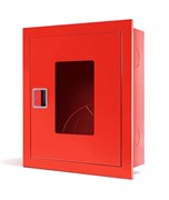 Шкаф пожарный с евроручкой ШПК-310 ВОБ (встроенный открытый красный)