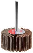 """Круг шлифовальный ЗУБР """"МАСТЕР"""" веерный лепестковый, на шпильке, тип КЛО, зерно-электрокорунд нормальный, P80, 15х30мм"""