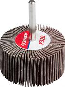 """Круг шлифовальный ЗУБР """"МАСТЕР"""" веерный лепестковый, на шпильке, тип КЛО, зерно-электрокорунд нормальный, P80, 30х60мм"""
