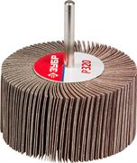 """Круг шлифовальный ЗУБР """"МАСТЕР"""" веерный лепестковый, на шпильке, тип КЛО, зерно-электрокорунд нормальный, P80, 40х80мм"""