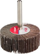 """Круг шлифовальный ЗУБР """"МАСТЕР"""" веерный лепестковый, на шпильке, тип КЛО, зерно-электрокорунд нормальный, P80, 20х50мм"""