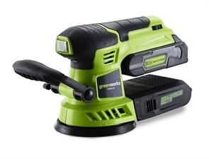 Шлифовальная машина, аккумуляторная Greenworks G24ROS, 24V, без АКБ и ЗУ