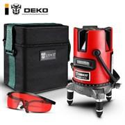 Уровень лазерный DEKO DKLL02RB SET1 (в сумке)