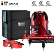 Уровень лазерный DEKO LL57 SET 2 (в сумке, со штативом)