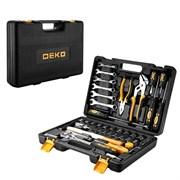 Универсальный набор инструмента для дома и авто в чемодане Deko DKMT63 (63 предмета)