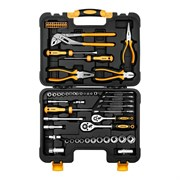 Универсальный набор инструмента для дома и авто в чемодане Deko TZ65 (65 предметов)