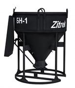 Бадья для бетона Zitrek БН-1.0 (лоток) стандарт 1330х1330х1650мм, 200кг.