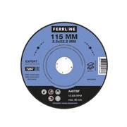 Круг отрезной по металлу FerrLine Expert 115 х 2,5 х 22,2 мм A46TBF