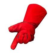 Краги спилковые красные (пр-во Foxweld)