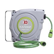 Шланг поливочный на автоматической катушке Калибр ШПАК-15