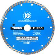 """Диск алмазный """"Калибр-TURBO"""" 180х22мм (арт.130110) предназначен для машин шлифовальных угловых. Применяется для сухого и мокрого реза бетона, искусственного камня, тротуарной плитки и бордюрного камня. Турбированная конструкция диска и наличие компенс"""
