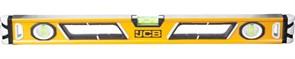 Уровень JCB коробчатый, магнитный, 2 фрезерованные базовые поверхности, 3 ампулы, крашенный, с ручками, 0,5мм/м, 60см