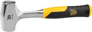 Кувалда JCB цельнокованая, двухкомпонентная виброгасящая рукоятка, 1130г