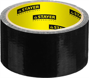 STAYER 48 мм х 10 м, черная, на тканевой основе, армированная лента (скотч) 12086-50-10
