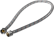 """ЗУБР 1/2"""", 0.8 м, оплетка из нержавеющей стали, подводка гибкая для воды 51005-G/S-080"""