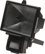 СВЕТОЗАР 500 Вт, с датчиком движения, с дугой крепления под установку, цвет черный, прожектор галогенный SV-57113-B