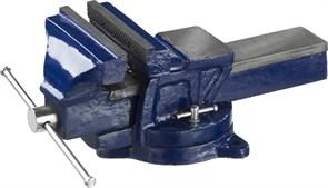 Тиски DEXX слесарные с поворотными механизмом, 150мм