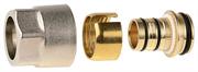 """GENERAL FITTINGS 3/4"""", никелированная латунь, соединитель для металлопластиковых труб 51047-3/4-20"""
