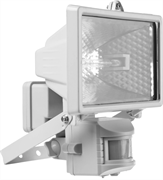 STAYER 150 Вт, MAXLight, с датчиком движения и дугой крепления под установку, белый, прожектор галогенный 57111-W