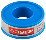 ЗУБР толщина 0,1 мм, плотность 0,40 г/см3, ширина 12 мм, фум лента 12373-12-040