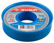 ЗУБР толщина 0,2 мм, плотность 0,40 г/см3, ширина 12 мм, фум лента 12371-12-040