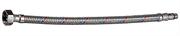 """ЗУБР 1/2"""", 1.5 м, оплетка из нерж. стали, укороченная для воды к смесителям, подводка гибкая 51002-150"""