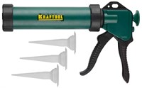 "Пистолет для герметика KRAFTOOL ""KraftSeal"" 06677, закрытый, 320мл - фото 10057"