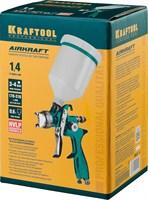 Краскопульт пневматический KRAFTOOL AirKraft, HVLP, c верхним бачком, 1,4мм - фото 12208