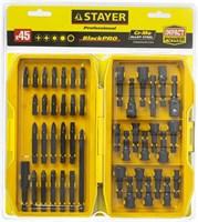 "Набор STAYER ""PROFESSIONAL"": Насадки BlackPro для ударного шуруповерта, Сr-Mo сталь, 45предм - фото 12570"