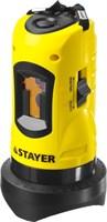 Нивелир лазерный линейный SLL-1, STAYER 34960, дальность 10м, точн. +/-0,5 мм/м - фото 13547