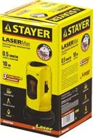 Нивелир лазерный линейный SLL-1, STAYER 34960, дальность 10м, точн. +/-0,5 мм/м - фото 13550