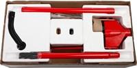 """Домкрат гидравлический подкатной """"RED FORCE"""", с педалью, 3,5т, 145-500мм, STAYER 43155-3.5 - фото 14690"""