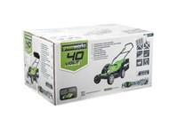 Greenworks G40LM35K4, газонокосилка аккумуляторная - фото 25189