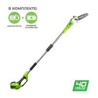 GreenWorks G40PS20, высоторез/Сучкорез аккумуляторный - фото 25347