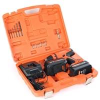 Дрель-шуруповерт аккумуляторная PATRIOT BR 140, две батареи NiCd,14,4V,1.5 Ah, 37 Нм, большой кейс, зарядка за 1 час, комплект бит и сверл - фото 6105